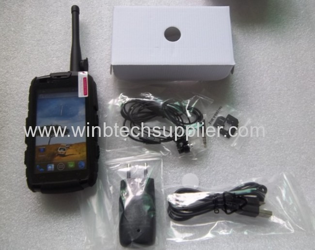 nfc rugged phone walkie talkie 4inch android 4.2 Quad core rugged phone
