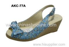 China Fashion hot Lady Jute shoe
