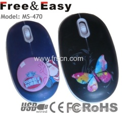 OEM water transfer printing mouse