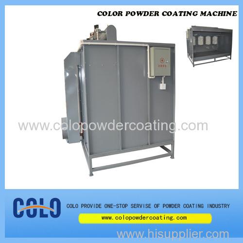 batch powder coating booth