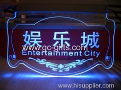 LED acrylic Entertainment city billboard
