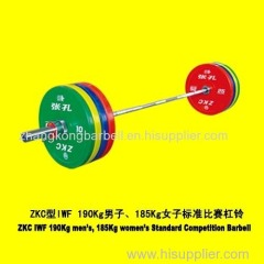ZKC colored competition barbell