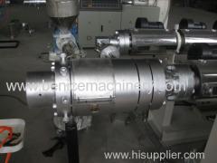 Plastic PE pipe processing machine