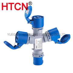 Industrial Splitter units 3 way 220V IP44 2p+e
