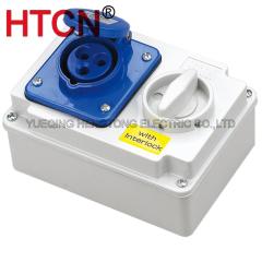 switch interlock socket outlet 16a ip44