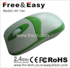 Flat middle size computer coreless mouse