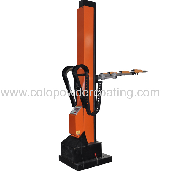Powder coating gun lifter