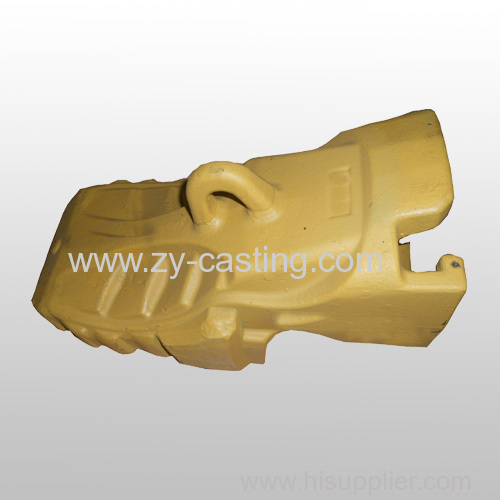 bucket teeth yellow color carbon steel casting machinery engineering