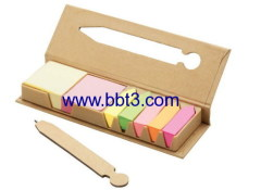 New design eco paper box with sticky notes and ballpen