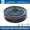 Wire guide pulley roller for drawing wire