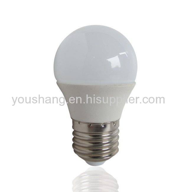 G45 E27 Aluminum and plastic 4W LED BULB