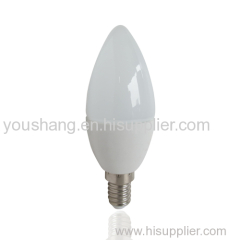 C37 E14/E27 4W Aluminum and plastic LED BULB