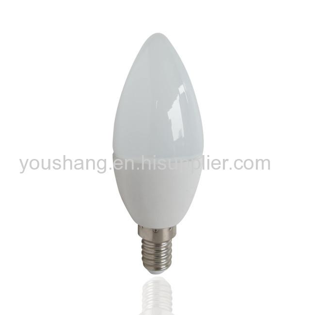 C37 E14/E27 4W Aluminum and plastic LED BULB