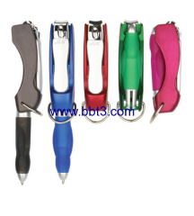 Promotion ballpoint pen with nail scissors