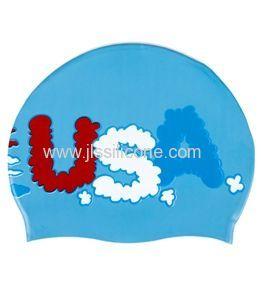 Customized silicone swimming caps