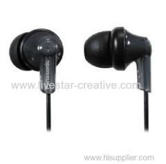 Panasonic RP-HJE120-K In Ear Earbud Ergo-Fit Headphones Black