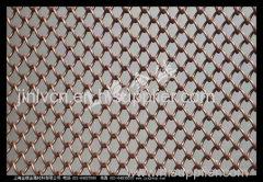 decorative metal coil drapery