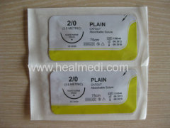 Absorbable Plain Catgut and Chromic Catgut Suture with needle