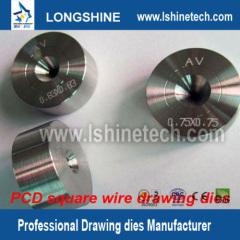 PCD wire drawing die