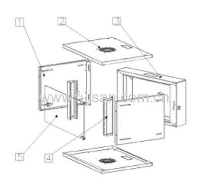 6u/9u/12u/15u double section wall mount network cabinet