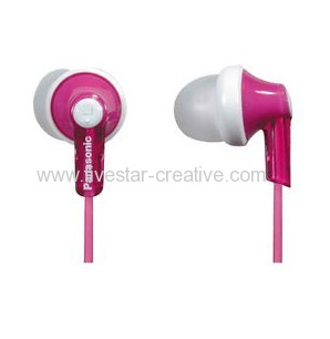 Panasonic RP-HJE120 Wired Stereo Earphone Earbuds Pink with 3 Pairs Earbuds