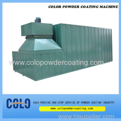 Gas heating powder coating oven