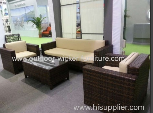 Garen rattan leisure sofa with knockdown