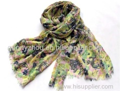 100% cotton printing scarf