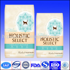 side gusseted pet food bag