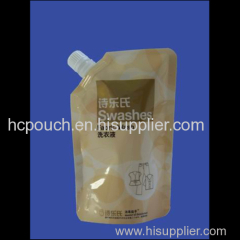 Self-standing liquid spout pouch for juice jelly milk