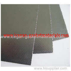 graphite gasketing sheet with carbon steel inserted