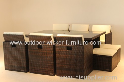 Patio rattan modern chair and table for cafes