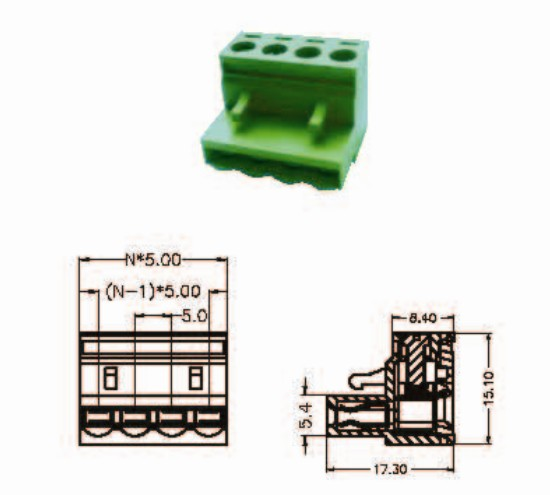 Wholesale of China Pluggable Screw Terminal Block for 5.0mm connection--from KaiFeng Electronic Co.,Ltd.