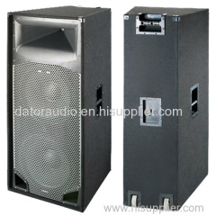 15-inch Dual Black Carpet Passive Pro Audio Speaker Cabinet