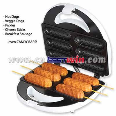 Hot dog maker/corndog maker with six stick