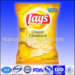 plactic potato chips bag
