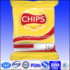 lap seal pouch potatochips bag