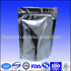 Stand up foil bag with zipper