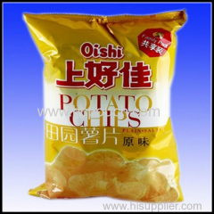 printed potato chips package