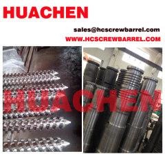 SKD bimetallic conical twin screw barrel for PVC XPS PP...