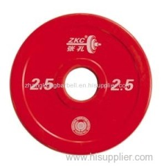 competition and training barbell plates