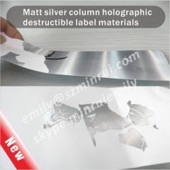 Holographic Destructible Vinyl Materials