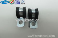 rubber lined P clips - zinc plated steel KPC13035