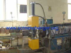 Plate type hydraulic continuous screen changer for polymer melt filtration
