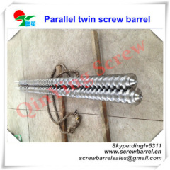 twin parallel screws and barrels