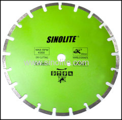 laser-welded diamond saw blade