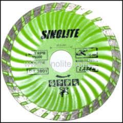 Wave turbo diamond cold pressed saw blade