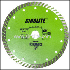 Diamond hot pressed turbo saw blade