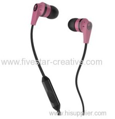 Skullcandy Ink'd 2 Earbud Headphones Pink/Black with Mic/Remote