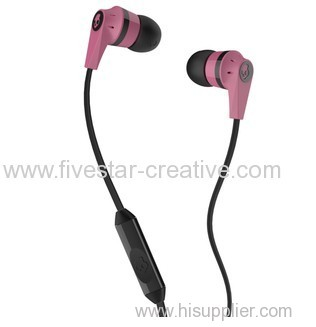 Skullcandy Ink'd 2 Earbud Headphones Pink/Black with Mic/Remote